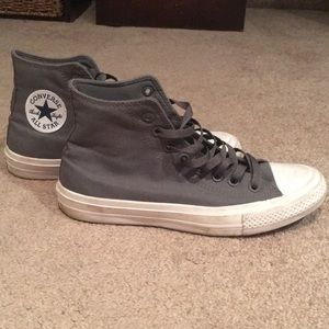 Chuck II grey high top converse with Nike sole